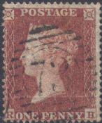 1854 1d Red SG17 Plate 174 'RH'